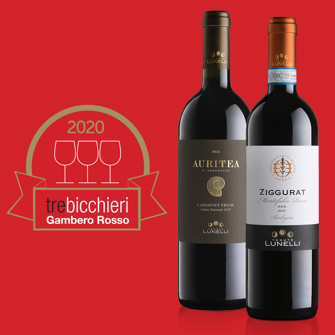 "Ziggurat 2017 e Auritea 2016 win ""Tre bicchieri"" ratings from Gambero Rosso"