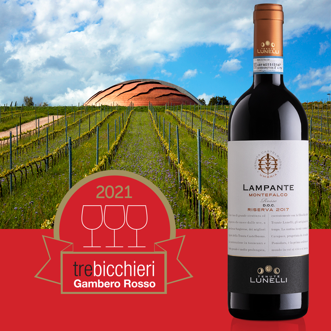 LAMPANTE 2017 HAS BEEN AWARDED WITH THREE GLASSES 2021 BY GAMBERO ROSSO